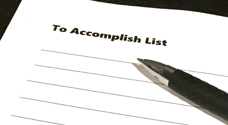 To Accomplish List